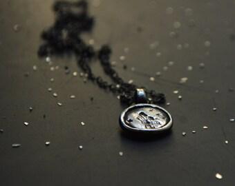 Zodiac Necklace, Sterling Silver Wolf + Stars Necklace, Spirit Animal, Birthday Gift, Zodiac Sign Gift, Zodiac Jewelry, Woman Zodiac Gift
