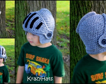 Crochet Knight Helmet .Crochet hat.Made to order.