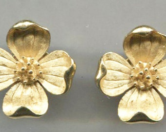 TRIFARI Gold Tone Daisy Flower Clip-Back Earrings