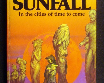 SUNFALL vintage 1980s SF paperback book