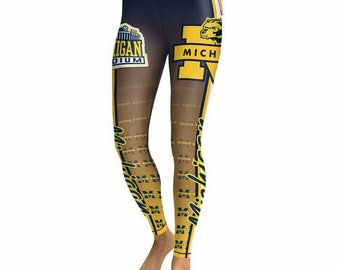 New Women's University of Michigan Wolverines Leggings NCAA College