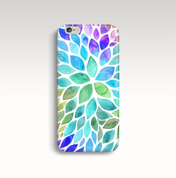 water color leaf iphone 6 case