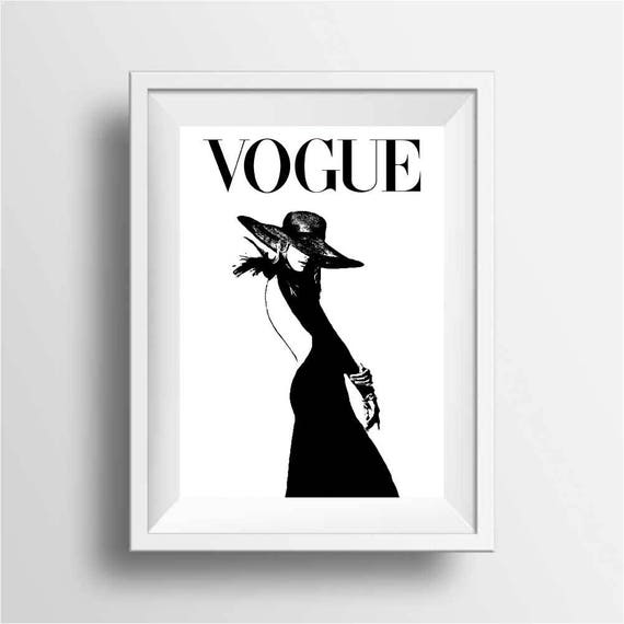 Vogue black and white poster prints