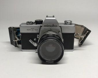 Minolta SR-T 101 35mm SLR Camera With 52mm Lense and Filter