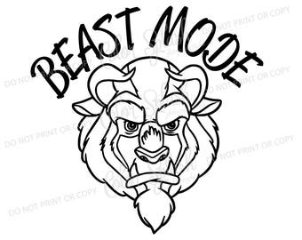 beauty and the beast svg, png, eps, dxf, cut file, cricut file, silhouette cameo file, cuttable, beast mode, boy