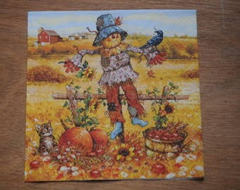 """home deco """"colors of autumn"""" themed paper napkin"""