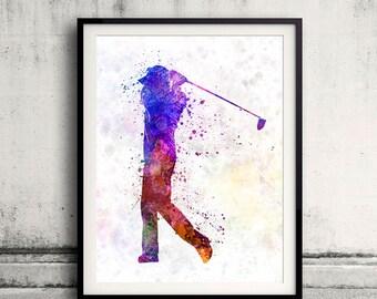 man golfer swing silhouette 01 - SKU 0573
