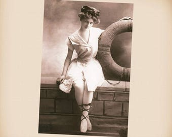 Bathing Beauty New 4x6 Vintage Postcard Image Photo Print BB35