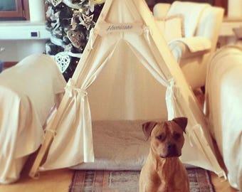 Natural Colour Dog Teepee | Dog Tent | Tenda per cani