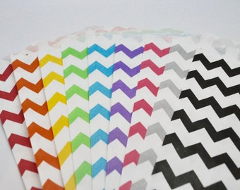 YOU CHOOSE Chevron bags - QTY 12 - Treat Bag - Baked Goods Bag - 5x7 - Assorted Party bags