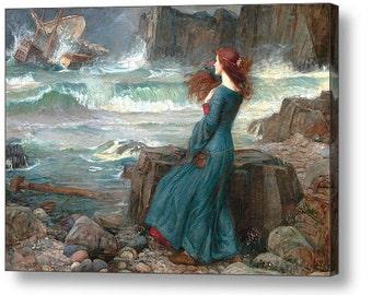 "John William Waterhouse ""Miranda the Tempest "" Canvas Box Art A4, A3, A2, A1 ++"