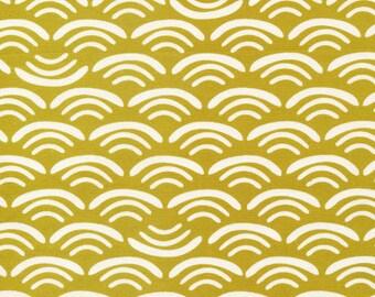 Organic fabric by Cloud9, Koi Canvas by Rashida Coleman- Hale, Smile and Wave Reed  - 1/2 Yard