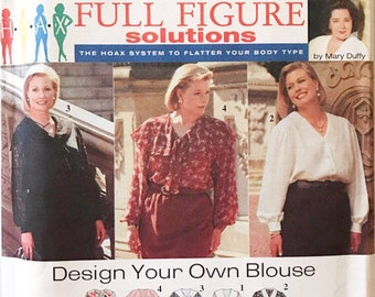 Plus size blouse/sewing Pattern/ Full Figure Solutions/simplicity 9318/design your blouse/hoax system/