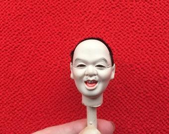 Japanese Doll Head Man's Head - Small Size (D11-10)