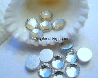 Special SALE Crystal Czech  Rhinestone 4MM-Flat Back Rhinestone, GreatQuality Back Plated, No Hot-Fix, Faceted, Flat Round, Crystal,
