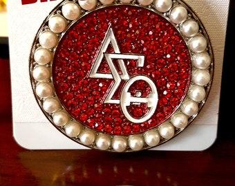 Delta Sigma Theta Sorority Lapel Pin Brooch DST Diva Pearl