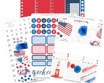 NO COUPONS / Planner Sticker Kits / Fourth of July Planner Stickers / Erin Condren Planner Stickers / Weekly Kit / Photo Kit / PH5