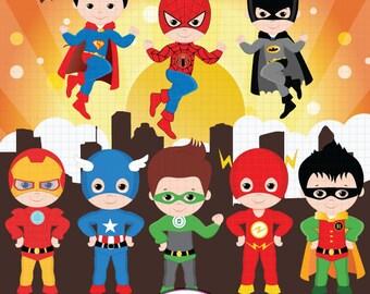 Superhero clipart, Super Hero clipart, Superhero boys, Hero clipart, Superhero Digital clipart,  Boys clipart, Superhero clip art