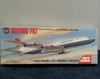 Model airplane Boeing 707 British Airways 1/144 scale kit Airfix Skyking Made in England Aircraft Airliner Jet Plane Aviation