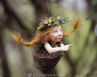 Pixie girl Leonie, handmade decoration