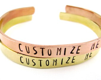Custom Personalized Bracelet, Personalized Jewelry, Hand Stamped Bracelet, Best Friend Gift, Custom Gift for Her, Mother's Day Gift