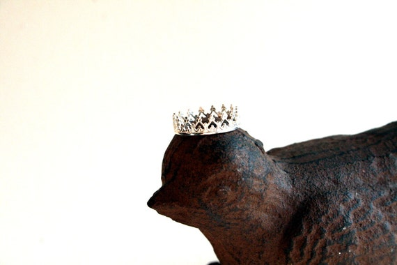 Little Princess Crown Sterling Silver Ring