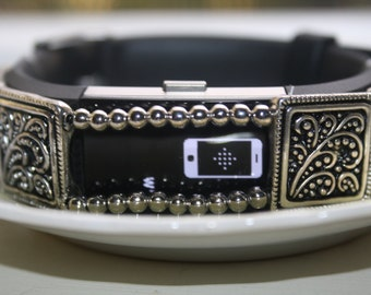 Fitbit Charge 2, Fiitness Tracker Charm, Fitbit Bling, Fitbit Floral Spray Charm