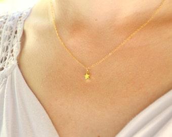Tiny gold star necklace, Gold star necklace, Star necklace gold, Star necklace, Galaxy necklace, Tiny star necklace, Small star necklace