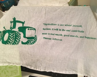 Love of Agriculture // dish towel // hand towel // farm // kitchen // bathroom // country style decor // housewarming gift