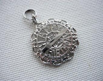 Happy Birthday Sterling Silver Pendant/Charm