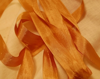 Antique Gold Vintage Seam Binding Ribbon 1/2 inch wide