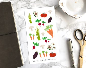 Vegetable Sticker Sheet