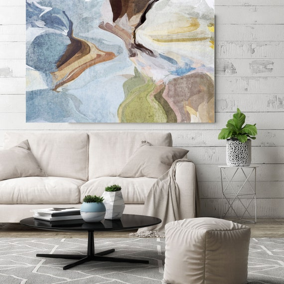 "Washed out, Abstract Painting Modern Wall Art Painting Canvas Art Print Art Modern Green Blue Brown up to 80"" by Irena Orlov"