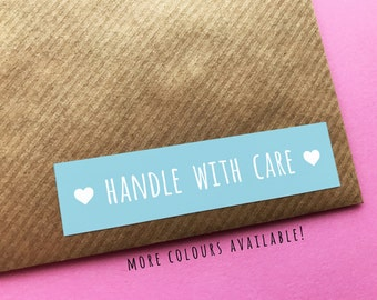 Handle With Care Stickers, Happy Mail Stickers, Please Handle With Care Labels, Packaging Stickers, Pretty Stickers, Happy Mail Labels