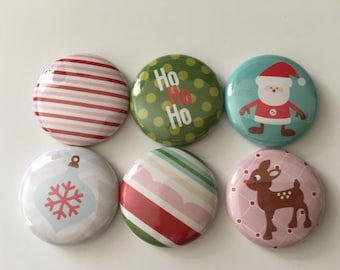 Christmas scrapbook flair buttons