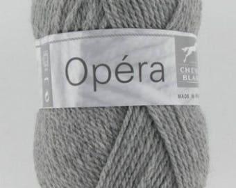 OPERA yarn gray No. 058 horse white flannel