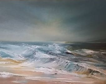The Heavens Shine, seascape oil painting