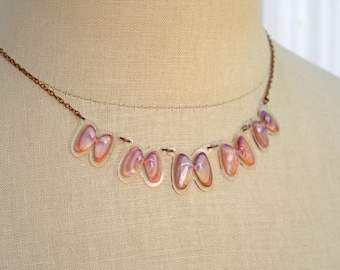 READY MADE SALE - Coquina Shell Necklace - Shell Necklace - Florida Seashell Beach Mermaid Jewelry - Purple & Blush