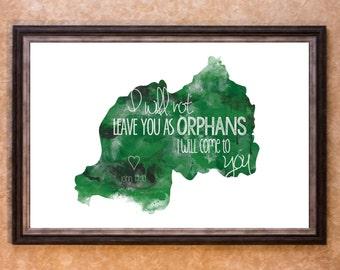 Home Decor - Adoption - Rwanda Graphic Art