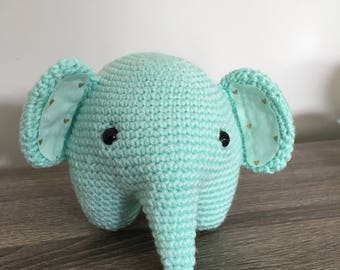Handmade crochet elephant plush stuffed toy