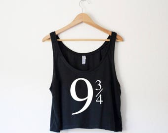 Platform 9 3/4 Crop Tank - Inspired by Harry Potter - by So Effing Cute