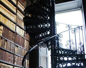 Trinity Library - Spiral Staircase - Dublin, Ireland