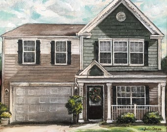 8 x 10 custom house portrait