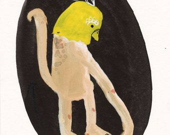 Long Arm / Gouache Original / gouache painting