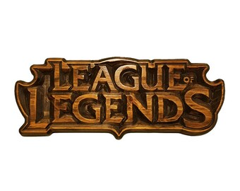 Custom League of Legends Carved Wood Wall Art