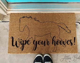 Delicieux Wipe Your Hooves Doormat Horse Lovers Welcome Mat Ranch Doormat Farm Doormat  Western Decor