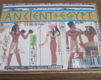 Vintage Double Deck Playing Cards Ancient Egypt Made In Austria By PIATNIK Still Sealed Never Used # 2587
