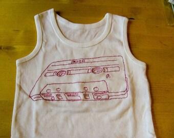 Cassette Baby vest, mixtape Baby Vest Romper suit