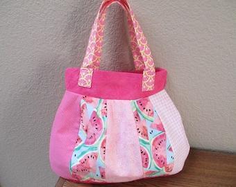 Pink Watemelon Crazy Quilt Bag