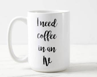 Gilmore Girls | I need coffee in an IV | Gilmore Girls TV | Coffee | Coffee Lover | Gilmore Girls Coffee | Tv Show | Comedy OVERSIZED Mug